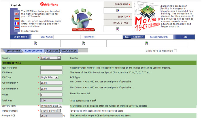 Homepage - Year 2004