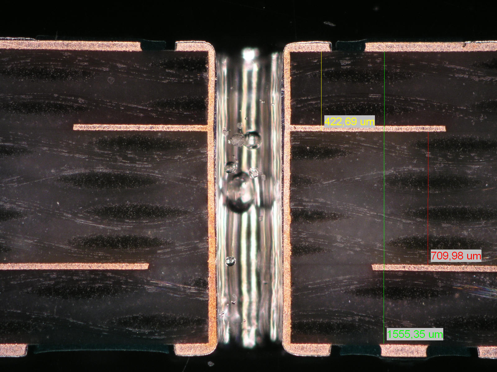 How Do We Assure The Quality Of Your Pcb Part 3 Eurocircuits Multilayer Printed Wiring Board Inspect Registration Inner Copper Lands To Holes Next Picture Shows Same As Last One But When Measure