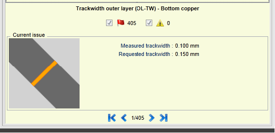 Track width issue