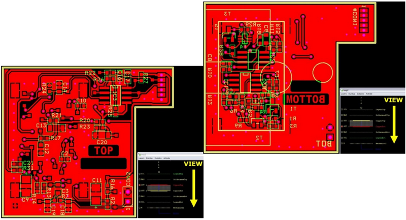 Viewing PCB top to bottom