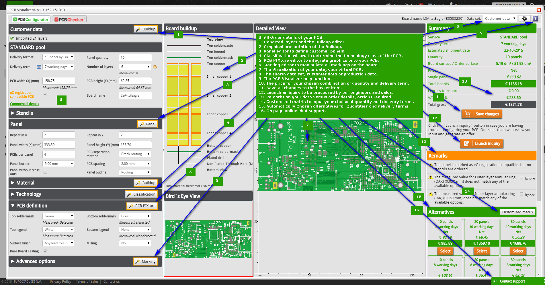 Pcb Visualizer Features Eurocircuits Fr4 Material Electronic Calculator Circuit Board With Configurator