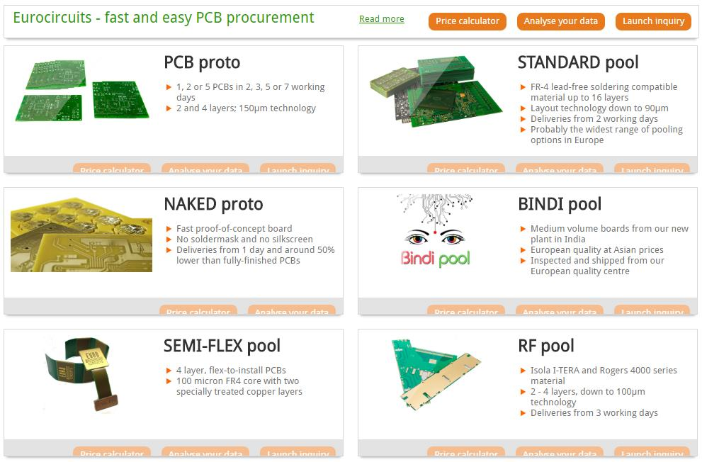 PCB Prototype and small series services offered by Eurocircuits ...