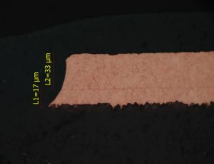 Outer Layer with 18 µm Start Copper