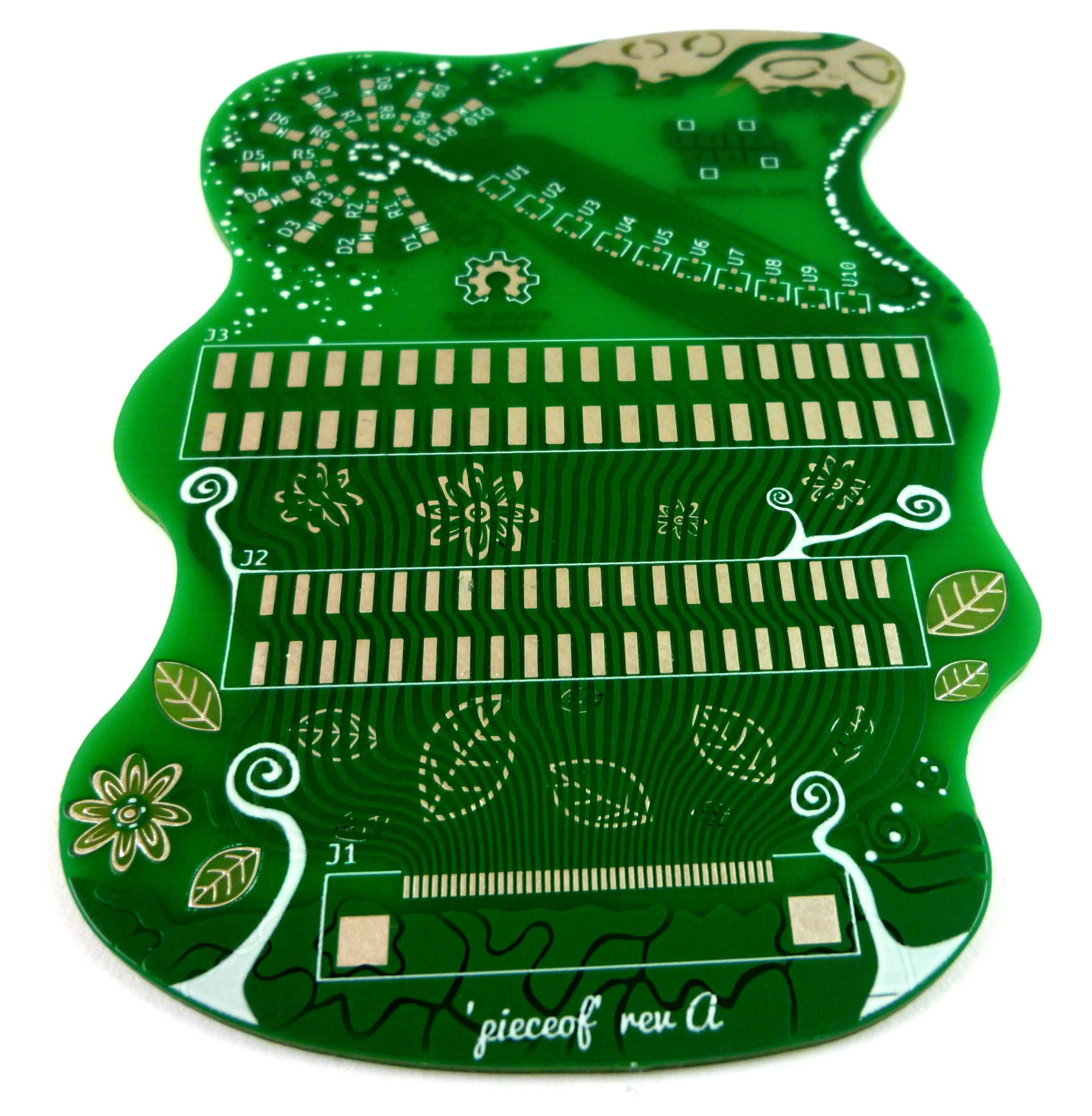 First PCB made with PCBmodE and with Eurocircuits