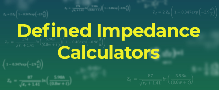 Defined Impedance Calculator Banner