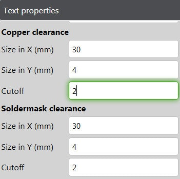 Panel Editor Copper Text Properties 2