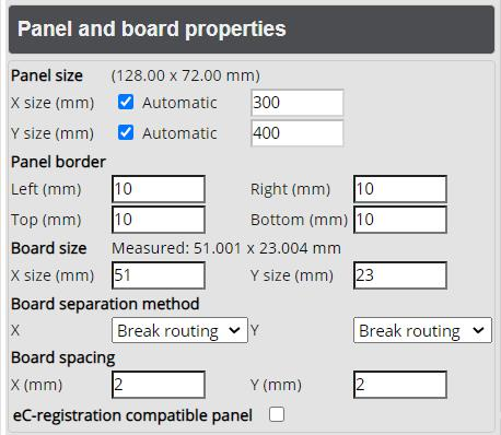 Panel and Boarder Properties