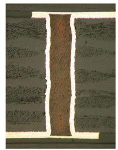 Cross Section of Filled Via
