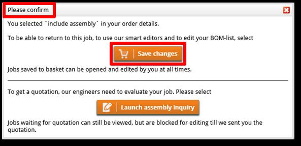 Please confirm pop-up - web