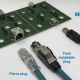Fig. 1. Example of the different types of tested Ethernet connectors