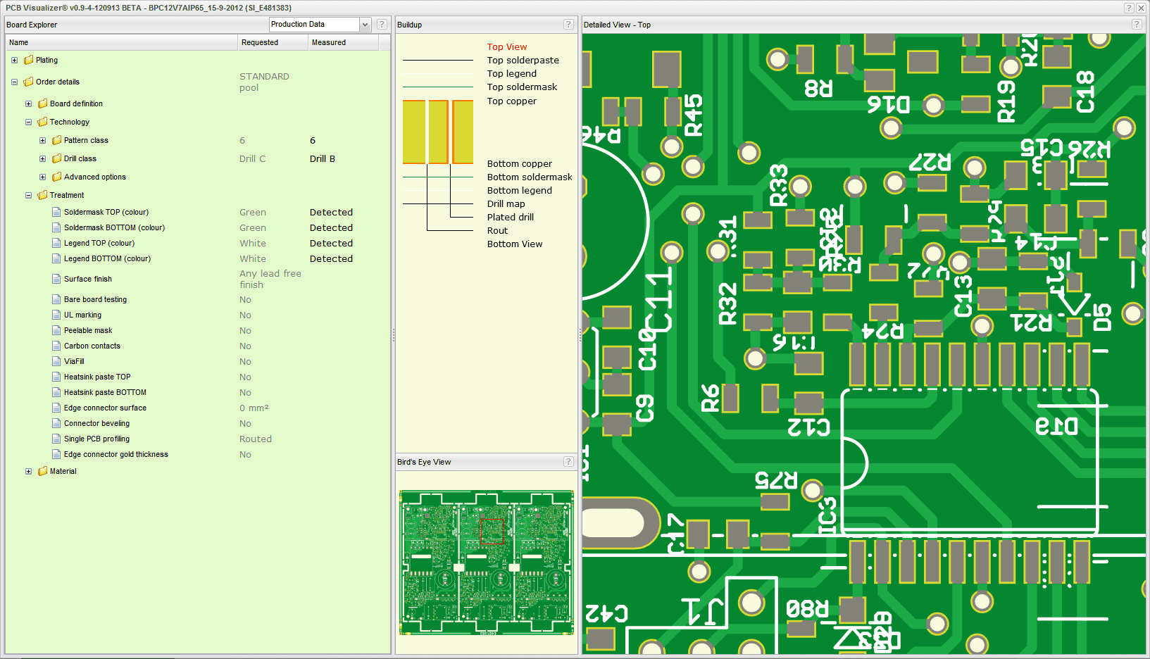 PCB-Visualizer-Production data-Top
