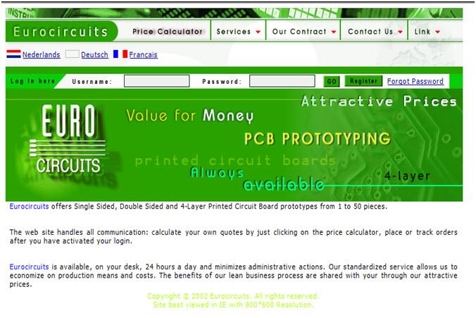 Homepage - Year 2002