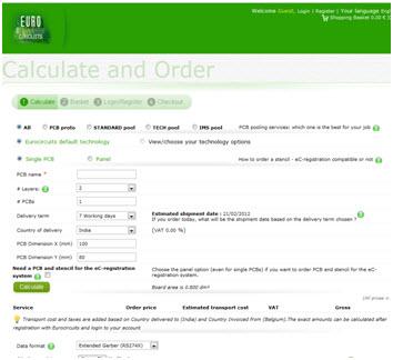 Price calculator - Year 2012