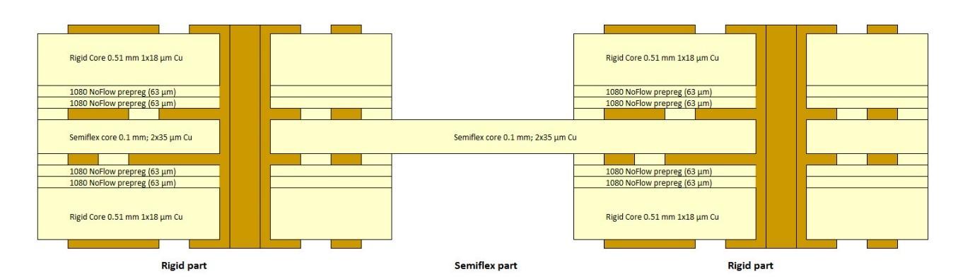 SEMI-FLEX Buildup Drawing