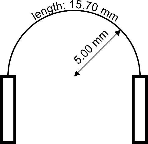 SEMI-FLEX Bend Radius Drawing