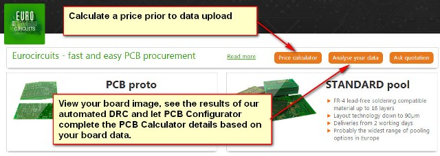 Two routes to calculate a PCB price