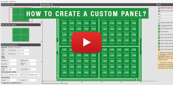 Eurocircuits' How to create custom panel?
