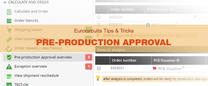 Eurocircuits Tips & Tricks – Pre-production approval