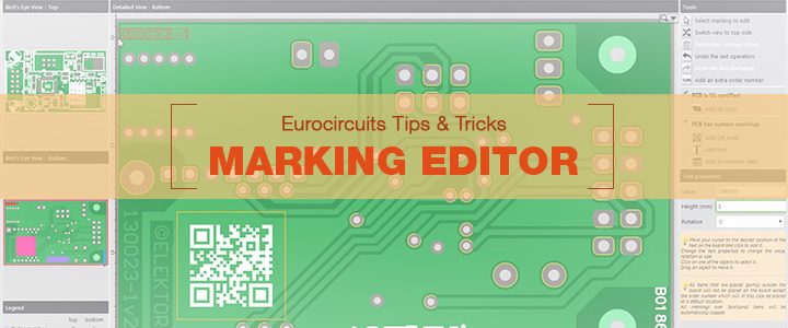 Eurocircuits Tips & Tricks – Marking Editor